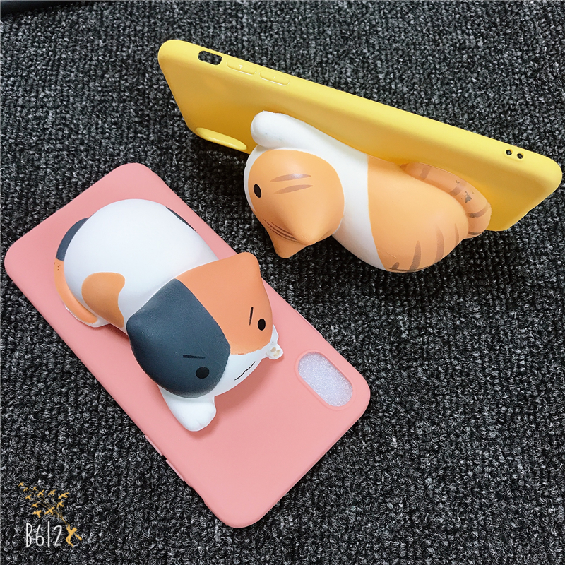 Phone Case For Xiaomi Redmi Note 4 4X 5 5A Prime 6 Pro 6A S2 Y2 7 GO A2 Lite 3D Black Cats Toy kitten Kitty Soft Silicone Cover