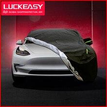 لوكشاسي غطاء سيارة ل تسلا نموذج 3 2018 2019 أكسفورد القماش مقاوم للماء جميع الطقس الشمس Uv حماية المطر