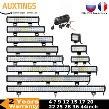 Led Licht Bar 4 7 9 12 15 18 20 22 25 28 36 44 Inch 4X4 Werk led Bar Offroad Suv Atv 18W 36W 54W 72W 90W 108W 126W 144W 162W