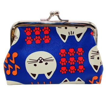 Portfel skórzany damski w stylu boho dziewczyna słodki kociak portmonetka z nadrukiem etui na karty torebki мини сумка tanie i dobre opinie xiniu Dziewczyny Animal prints wallet Hobos 12cm Hasp Lady