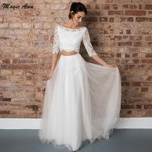 Женское платье с юбкой годе magic awn кружевное из тюля в стиле