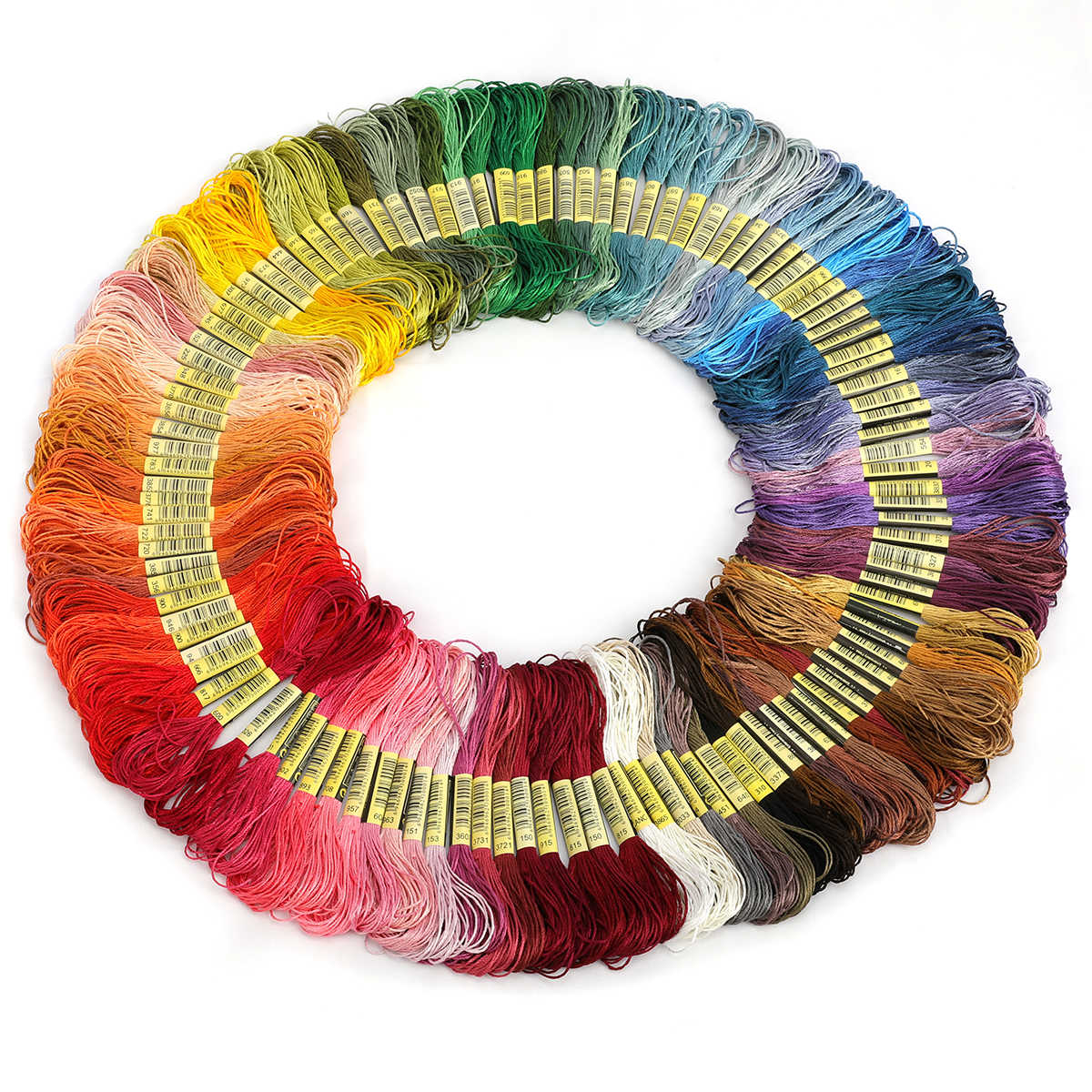 36/50/100/150 Skeins Coloured Embroidery Thread Cotton Cross needle Craft Sewing Floss kit Cross-Stitch Thread DIY Sewing Tools