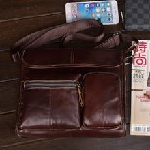 Сумка-мессенджер, натуральная кожа, мужские сумки для работы, Crazy Horse, кожаный портфель, водонепроницаемый, классический, на молнии, офисный, деловой, настоящий