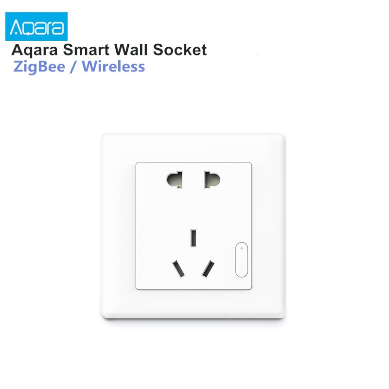 Aqara Smart Wall Socket ZigBee Wireless Wall Outlet Mijia Wall Socket Switch Work For Smart Home Kits APP