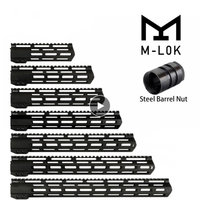 ohhunt 7 9 10 12 13.5 15 17 AR15 Free Float M LOK Handguard Picatinny Rail Slim Style Steel Barrel Nut for Scope Mount