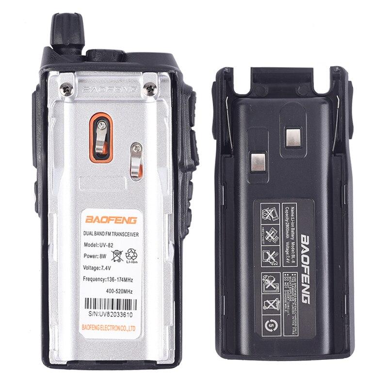 Baofeng True 8W UV-82 Plus UHF two-way radio Amador 8 watt transceiver / 10KM remote powerful walkie-talkie portable CB VHF