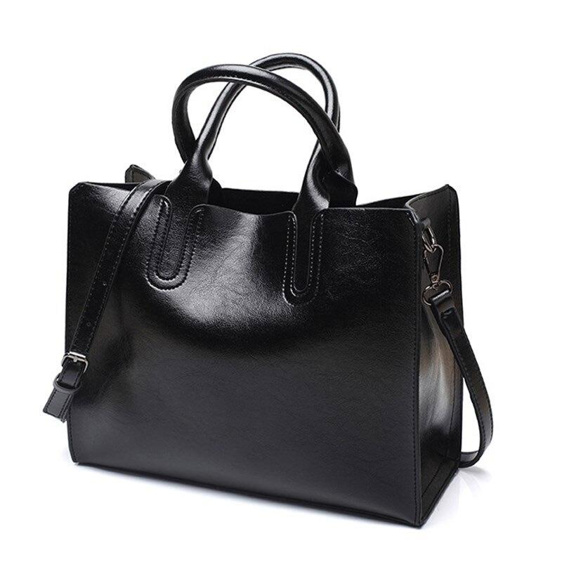 Sacs à main femmes en cuir véritable sac à bandoulière pour femmes poche zippée grande capacité mode 2020 noir femmes sac à provisions