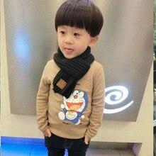 Cute Kids Boys Girls Winter Scarf Pompom Baby Scarf Warm Scarves Knitting Wool Neck Warm Elastic Toddler Accessories