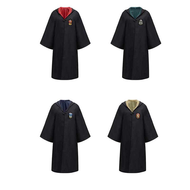 Gryffindor Hufflepuff Cosplay Costumes Potter Robe Cloak Cape Suit Tie Scarf Wand Glasses Ravenclaw Slytherin Potter Cos Clothes