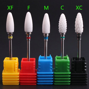 3/32'' Bullet Ceramic Nail Drill Bit Rotate Burr Milling Cutter For Manicure Pedicur Tools Electric Nail Drill Accessories