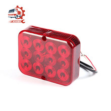 AOHEWEI Waterproof Trailer Fog Lights for Truck Boat Caravan Driving Tail Rear Lamps Safety Warning Lantern 12 LED Chips 1 Pair