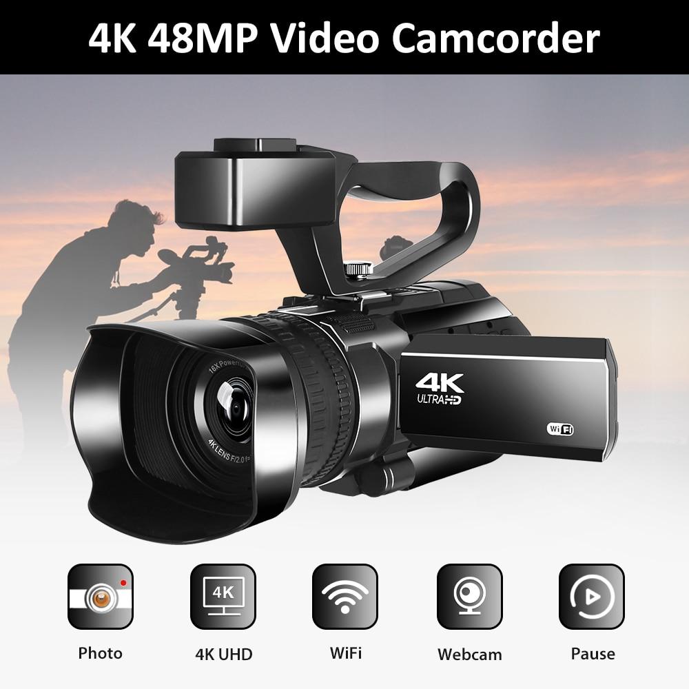 Komery Новое поступление 4K видеокамера прямая трансляция для Youtube 48MP WIFI 30X цифровой зум 3,0 широкоформатная камера с сенсорным экраном