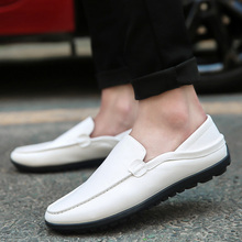 Mazefeng 2019 New Summer Man Leather Slip-On Casual Shoes Adults Fashion Lazy Lo
