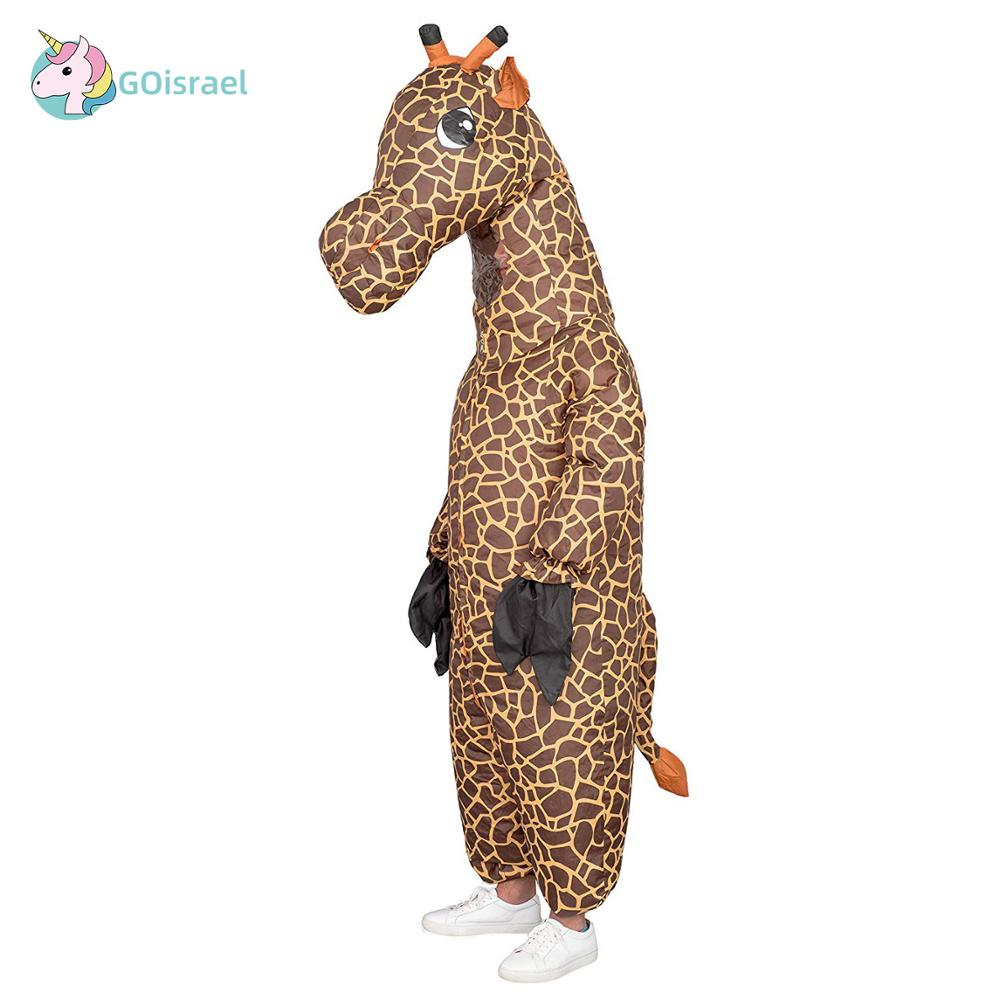 Giraffe Halloween Inflatable Costume Animal For Womens Men For Adult  Cosplay Onesies Mascot Purim Holiday Party  Jumpsuit