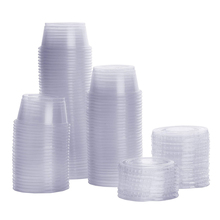 2 oz 60ml Clear Plastic Portion Cups With Lids, Souffle Cups, Jello Shot Cups
