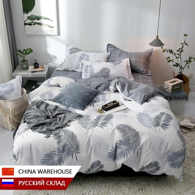 Nordic Bedding Set White Leaf