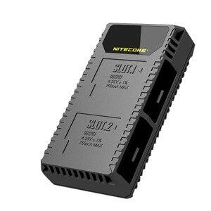 Image 2 - Nitecore ugp5 para gopro hero 5 preto usb duplo slots carregador para gopro hero 5 gopro herói 6 gopro herói 7 bateria preta