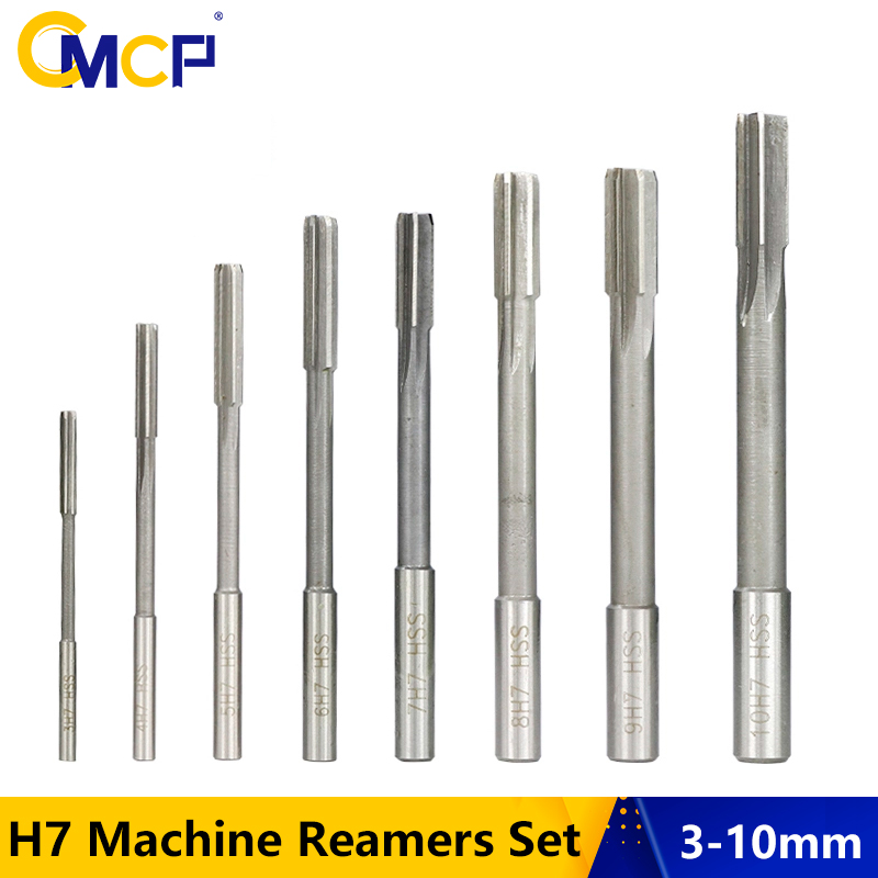 1pc 9.5mm Cutting Dia Straight Shank 6 Flutes H8 HSS Hand Reamer Reaming