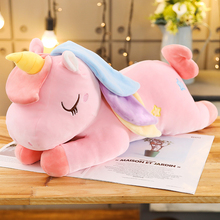 Cute Unicorn doll sleeping pillow Girl Doll Plush Toy strip bed super soft  Gifts for Friends cute
