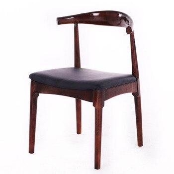 Nórdicos de madera maciza Silla de comedor silla en casa silla president Silla de computadora silla con cuernos estudio silla de oficina