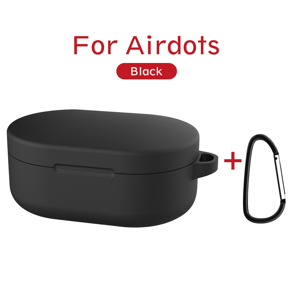 Silicone Protective Cover For Redmi AirDots Case Wireless Bluetooth Cases Soft Shell ForXiaomi AirDots Charging Box With Hooks