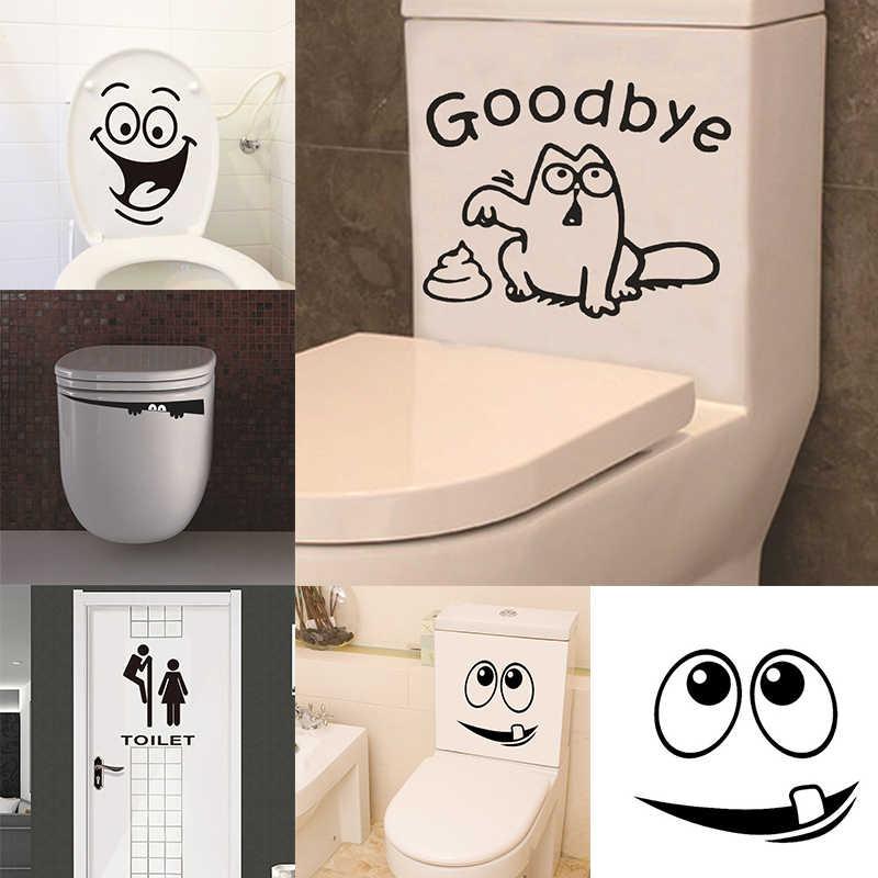 Creative Bathroom Decoration Waterproof Stickers Home Decoration Stickers Wall Stickers Home Decor