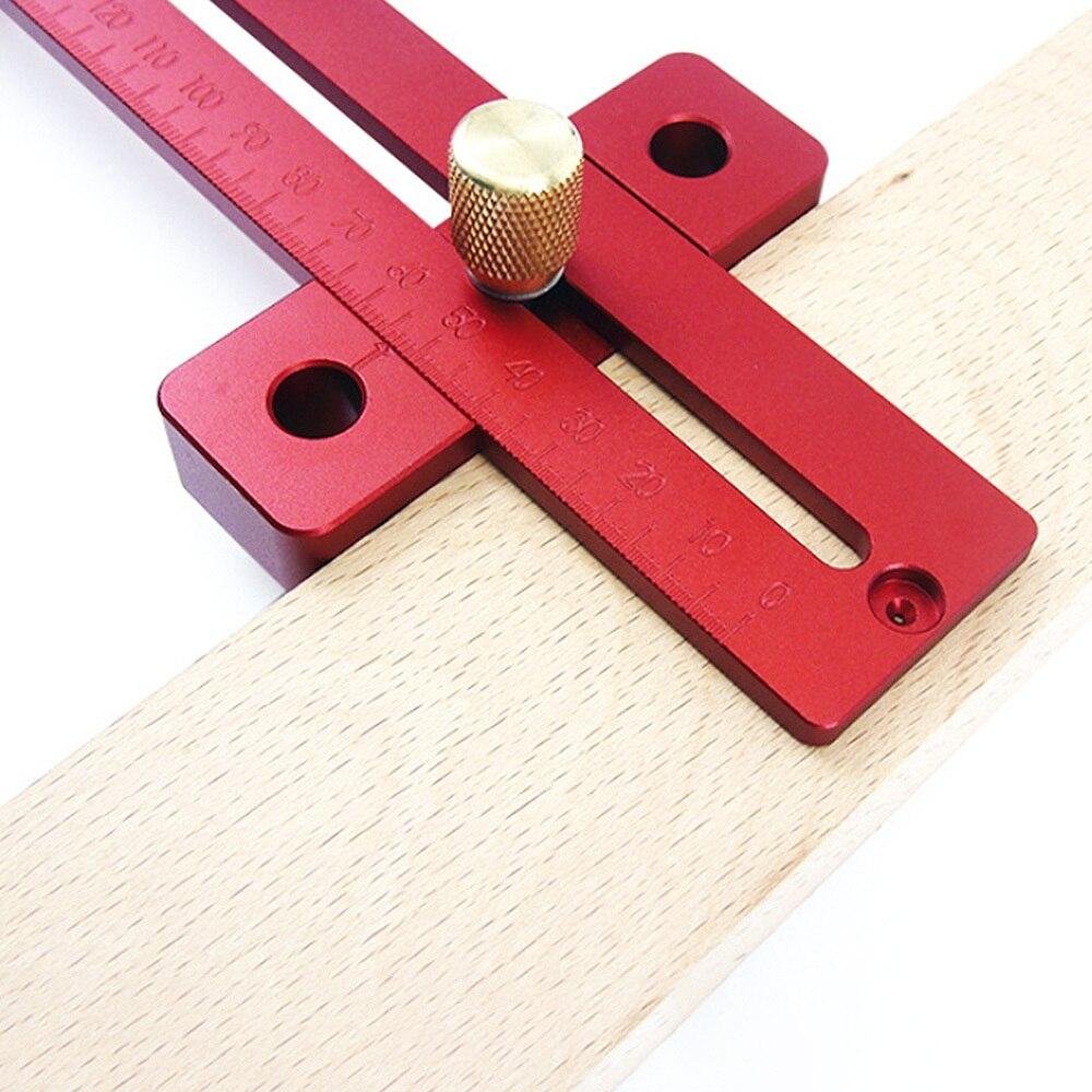 Woodworking Scriber T-Type Mark Line Wood Square Layout Metric Mark Gauge Caliper Ruler Carpenter Measuring Tool