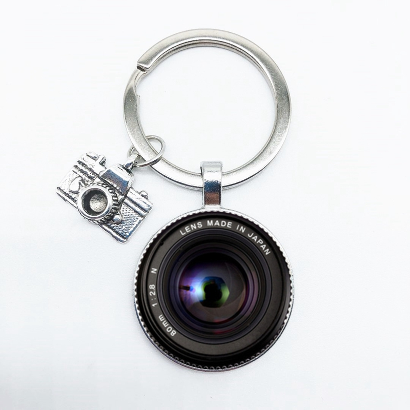 Popular Keychain Camera Pendant With SLR Lens Photographer SLR Enthusiast Keychain Personality Jewelry Gift Between Friends