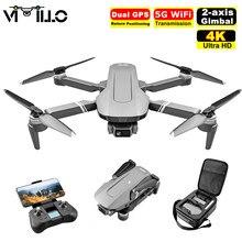 Zangão de gps f4 com 5g wifi fpv 4k câmera dupla profissional 2 eixos cardan brushless helicóptero brinquedo rc quadcopter dron vs sg906 pro