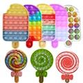 Пузырьковая игрушка для снятия стресса, Детская пузырьковая игрушка для мороженого, настольная игра, подарки для детей, веселая игрушка-ант...