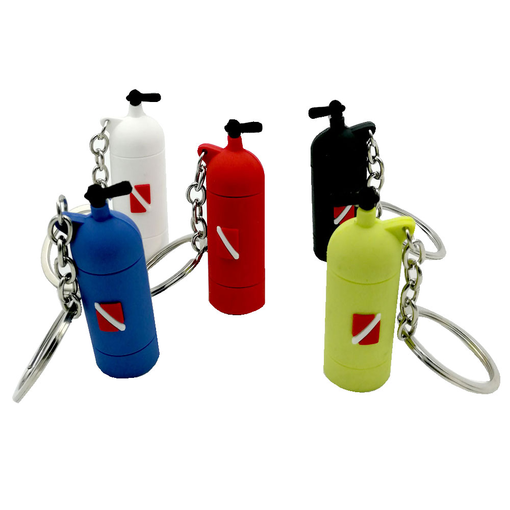 5Colors Mini Scuba Air Tank Mini Cylinder Bottle Keychain Key Ring Diver Diving Gift