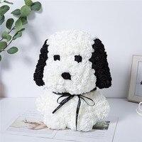 Rosa de perro Artificial personalizable, decoración de Navidad para el hogar, San Valentín, regalos para madre