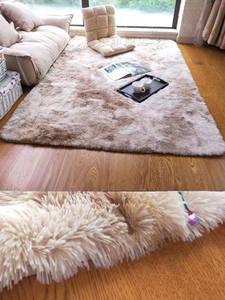 Area Carpet Tie-Dye gradient Living-Room Comfortable Soft Nordic Modern Gray Rectangular
