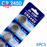 5PCS for CR2450 button batteries For Volvo For BMW remote control battery 2450 3V battery