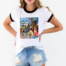 Japanese Studio Ghibli Miyazaki Hayaoanime no face totoro Spirit Away t shirt women graphic funny shirts 80s 90s streetwear