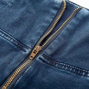 Image 4 - Melody 4 วิธียืดสูงเอวกางเกงยีนส์Dark/Light Blue Zipper Fly DENIMกางเกงยีนส์Super Skinnyกางเกงยีนส์Mujer 2019