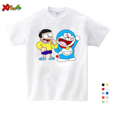 2019 New Doraemon T Shirt Children Japan Anime T-shirt Summer Short Sleeve Cotton Shirts Tops for Girl and Boy Tees