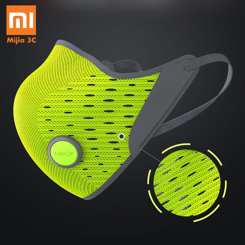 Original Xiaomi AirPOP Masks Dustproof Anti-fog Haze Anti-pollution Masks PM2.5 Breathable Sports Cycling Winter Mask Men Women