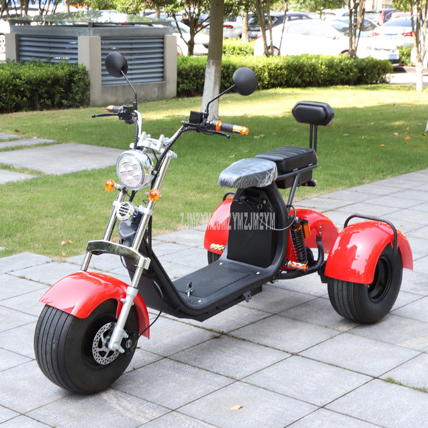 Stylish 3-Wheel Electric Bicycle For Adult 1000W 60V Three Wheel Electric Bike Scooter Vehicle For Old Elderly People Older