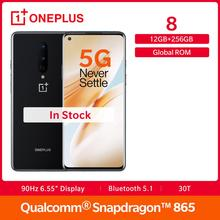 In Stock OnePlus 8 5G Global Rom Snapdragon 865 12GB 256GB 6.55″ Fulid AMOLED Display 48MP 30W UFS 3.0  NFC Smartphone