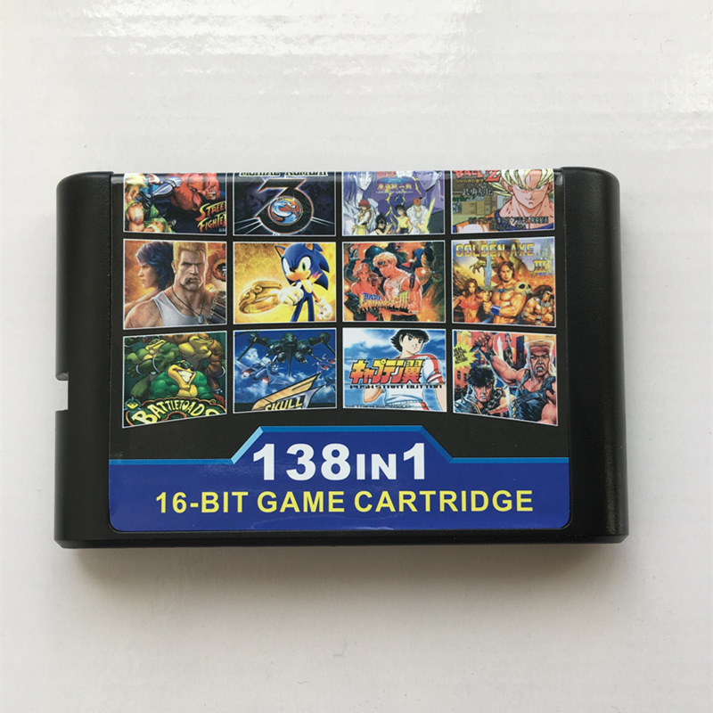 138 in 1 Hot Game Collection For SEGA GENESIS MegaDrive 16 bit Game Cartridge For PAL and NTSC Game consoles Version image