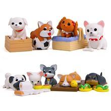 8 шт Мини милый мультяшный щенок модель игрушечного автомобиля украшения принадлежности для коллекции