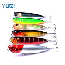 YUZI 2018 New Arrival 1 pcs 9cm 11.7g Big Popper Fishing Lures 3d Eyes Bait Crankbait Wobblers Tackle Isca Poper Japan