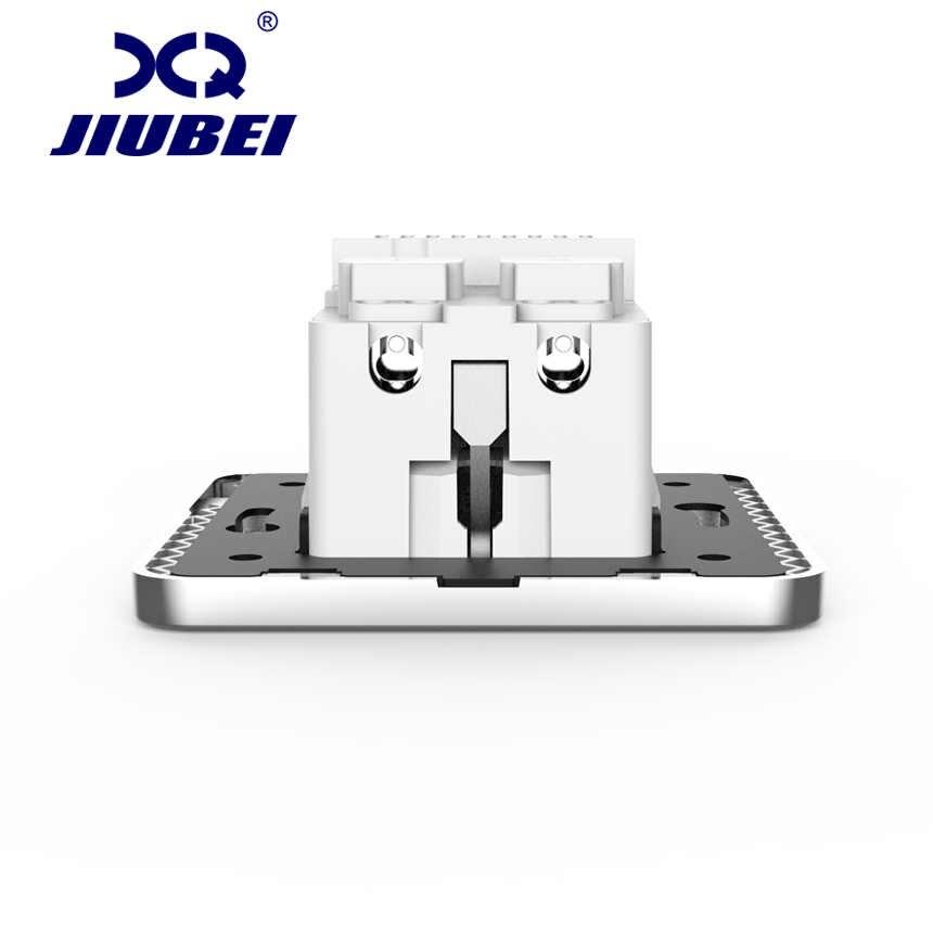 Jiubei Weiß Kristall Glas Panel 2A Dual USB Port Ladegerät Adapter Lade Buchse Mit USB Wand Adapter EU Stecker buchse Pow