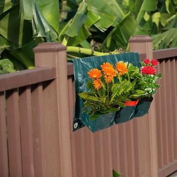 Large grow bags wall vertical plant grow bags wall hanging planter indoor outdoor for balcony garden yard office home decoration
