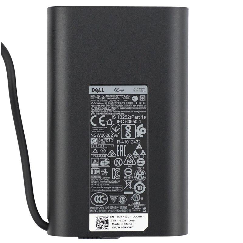 Купить новый оригинальный адаптер переменного тока 65 вт для dell inspiron