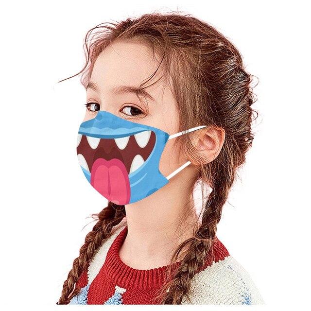 1PC Kids Children Outdoor Cotton Mouth Masks Washable Reusable Face Outdoor Desechables veilScarf Flag Bandana Drop-shipping#3 2