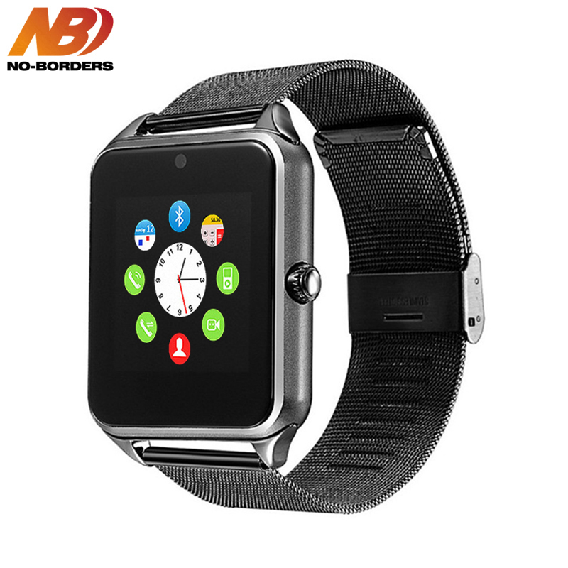 Higher Quality Z60 Smart Watch Plus Metal Strap Bluetooth Wrist Smartwatch Support Sim TF Card For Android IOS PK S8 IWO 8