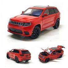Modelo de carro 1:32 liga modelo de carro JEEP-SRT grand cherokee clássico direção amortecedor som luz brinquedo menino presentes