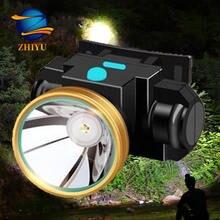 Налобный фонарь zhiyu светодиодный портативный супер яркий встроенный